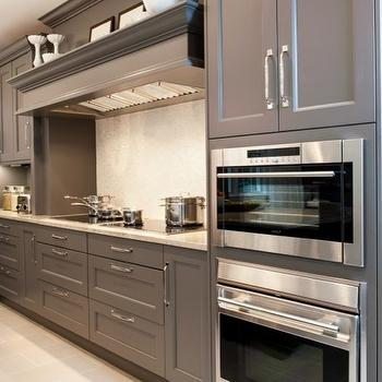 Gray Cabinets, Contemporary, kitchen, Aidan Design