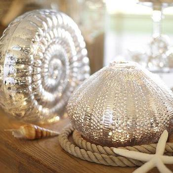Lit Mercury Glass Shells, Pottery Barn
