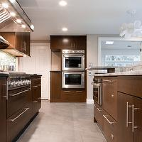 Aidan Design - kitchens - white, lotus, pendant, chocolate, brown, kitchen cabinets, kitchen island, marble, countertops, double ovens, chocolate  cabinets, chocolate kitchen cabinets, stained cabinets, stained kitchen cabinets, modern cabinets, modern kitchen cabinets, frameless cabinets, frameless kitchen cabinets, chocolate frameless cabinets, chocolate frameless kitchen cabinets, brown cabinets, brown kitchen cabinets, chocolate brown cabinets, chocolate brown kitchen cabinets,