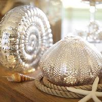Decor/Accessories - Lit Mercury Glass Shells | Pottery Barn - lit, mercury, glass, shells