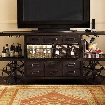 Storage Furniture - Sheffield Media Cart | Pottery Barn - sheffield, media, cart