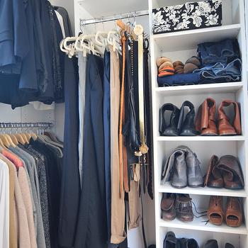 Cupcakes and Cashmere - closets - shoe, rack, closet shelves, closet shelving, walk in closet, walk in closet shelves, walk in closet shelving, built-in shelves, built-in shelving, built in closet shelves, built in closet shelving, closet system, walk in closet system,