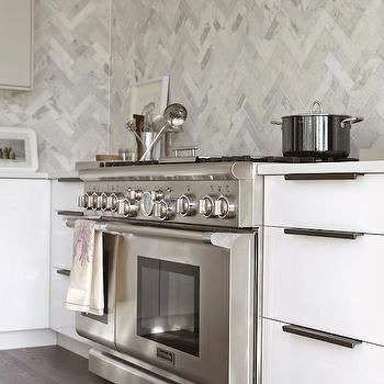Herringbone Tile, Contemporary, kitchen, Croma Design