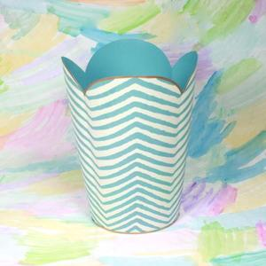 Decor/Accessories - Blue Zebra Wastebasket - blue, zebra, wastebasket