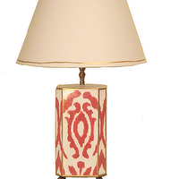 Lighting - Pink Ikat Lamp - pink, ikat, lamp
