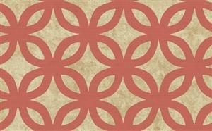 Wallpaper - Geometric Wallpaper in Neutrals and Orange by Antonina Vella - Seabrook Designs | Seabrook Wallpaper | BurkeDecor.com - geometric, wallpaper, orange
