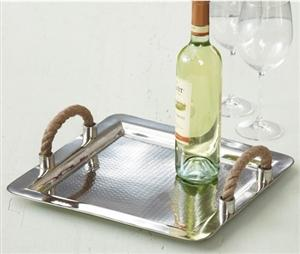 Decor/Accessories - Rope Handles Tray- Twos Company | Burke Decor - rope, tray