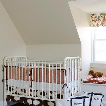 White Jenny Lind Crib, Contemporary, nursery, Finnian's Moon Interiors