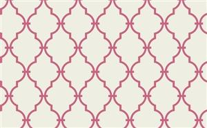 Wallpaper - Trellis Wallpaper in Ivory and Pink by Antonina Vella - Seabrook Designs | Seabrook Wallpaper | BurkeDecor.com - ivory, pink, trellis, wallpaper