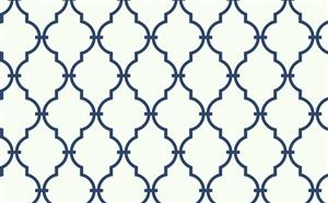 Trellis Wallpaper in Ivory and Blue by Antonina Vella, Seabrook Designs, Seabrook Wallpaper, BurkeDecor.com