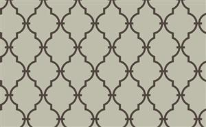 Trellis Wallpaper in Metallic and Chocolate by Antonina Vella, Seabrook Designs, Seabrook Wallpaper, BurkeDecor.com