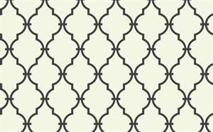 Trellis Wallpaper in Ivory and Black by Antonina Vella, Seabrook Designs, Seabrook Wallpaper, BurkeDecor.com