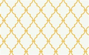 Trellis Wallpaper in Off-White and Yellow by Antonina Vella, Seabrook Designs, Seabrook Wallpaper, BurkeDecor.com