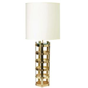 nate berkus gold lining lamp shade white large i target. Black Bedroom Furniture Sets. Home Design Ideas