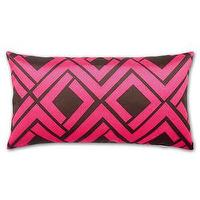 Art/Wall Decor - Avenida Maze Pillow in Pink & Brown by Trina Turk Modern Chic Home - avenida, maze, pillow, pink, brown
