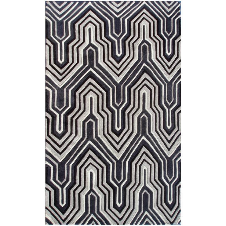 Ecconox Interlude Black & Gray Rug