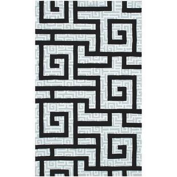 Rugs - Ecconox Rome Black Rug - ecconox, rome, black, rug