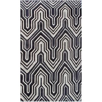 Rugs - Ecconox Interlude Black & Gray Rug - ecconox, interlude, black, gray, rug