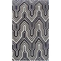Rugs - Ecconox Interlude Black &amp; Gray Rug - ecconox, interlude, black, gray, rug