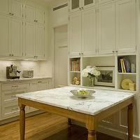 Ethelind Coblin Architect - kitchens - white, kitchen cabinets, marble, slab, countertops, marble, tiles, backsplash,  Amazing kitchen with creamy