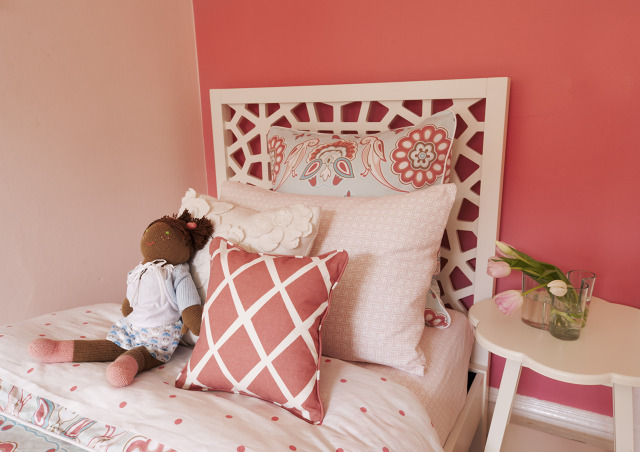 Morocco Headboard - Transitional - girl's room - EM Design Interiors