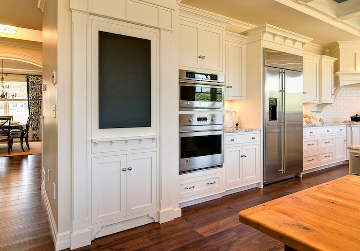 Farinelli Construction - kitchens - Duron - Shell White - ivory, kitchen cabinets, granite, countertops, hidden, walk-in, pantry, chalkboard, faux cabinet, hidden pantry, hidden pantry door,