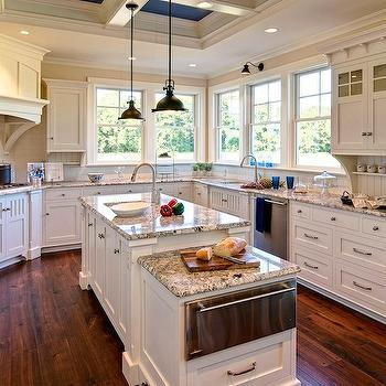 Polar Cream Granite Countertops, Traditional, kitchen, Duron Shell White, Farinelli Construction