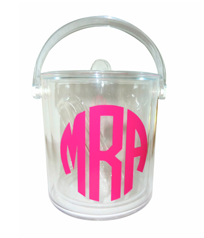 Decor/Accessories - Design Darling home decor &amp; monogrammed gifts Monogrammed Acrylic Ice Bucket - monogrammed, acrylic, ice bucket
