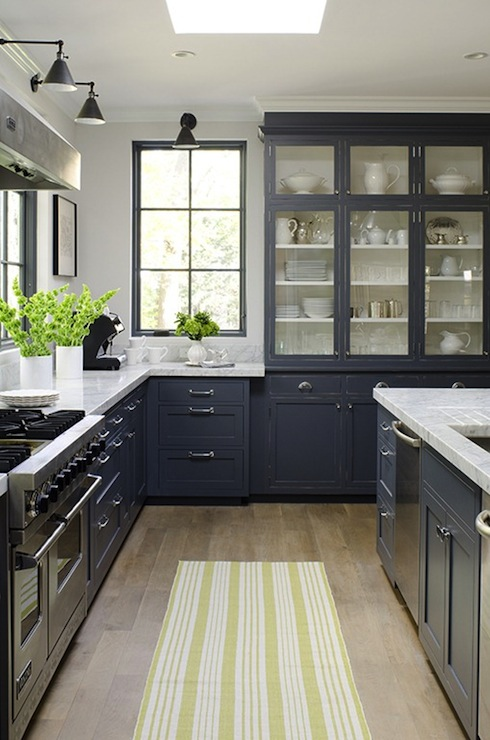 Blue Kitchen, Contemporary, kitchen, James R. Salomon Photography