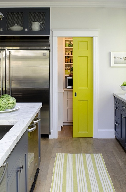Suzie: James R. Salomon Photography - Jeanne Rapone - Beautiful blue & yellow kitchen with ...