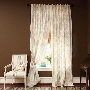 Rialto Embroidered Damask Panel, European-Inspired Home Furnishing, Ballard Designs