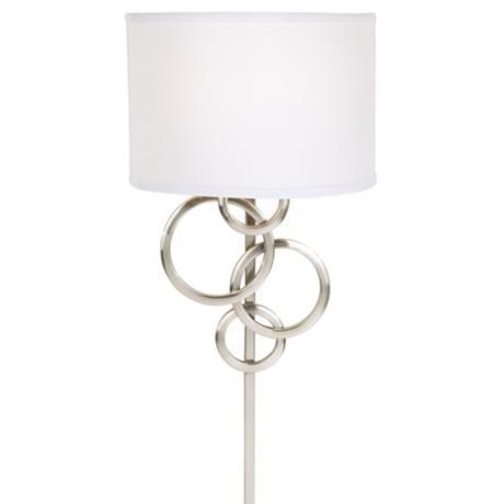 Possini Euro Design Circles Plug-In Wall Sconce | LampsPlus.
