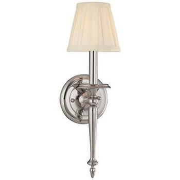 Lighting - Hudson Valley Jefferson Polished Nickel Wall Sconce | LampsPlus.com - hudson valley, jefferson, polished nickel, wall, sconce