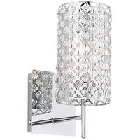 Lighting - Possini Glitz Crystal and Chrome 12 1/2 - crystal, sconce