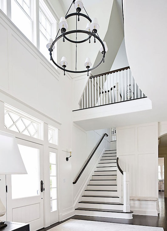 Dorset two tier chandelier with torch arm transitional for 2 story foyer chandelier