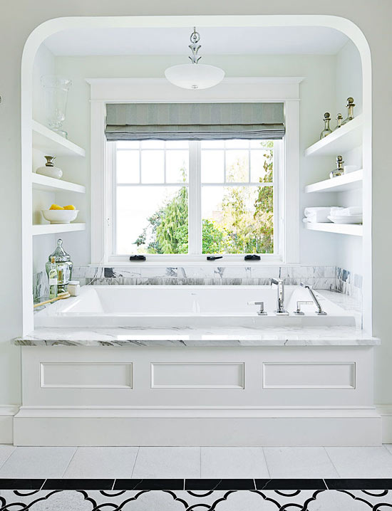 Bathtub Alcove Transitional Bathroom Traditional Home