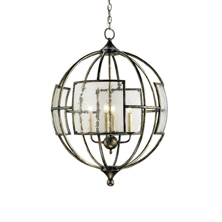 Large Foyer Orb Chandelier : Currey company light broxton orb chandelier large