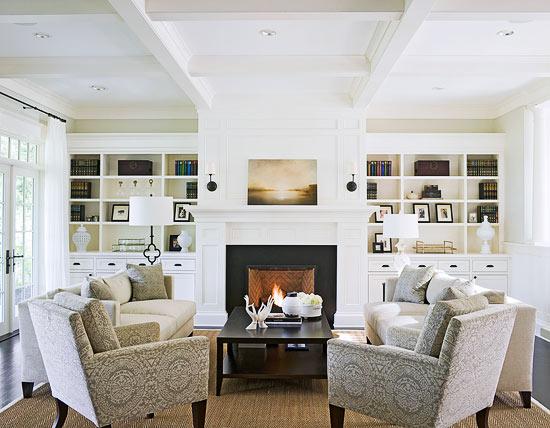 built in cabinets transitional living room benjamin