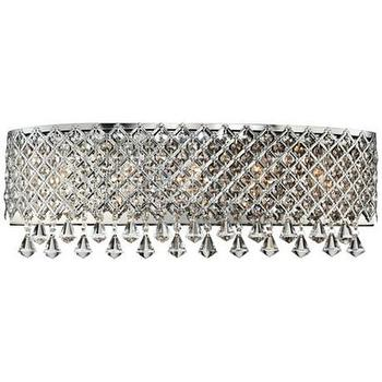 Lighting - Chrome Band Around Crystal 23 1/2 - chrome, dan around, crystal, sconce