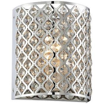 Lighting - Possini Glitz Crystal Chrome 8 1/2 - possini, glitz, sconce