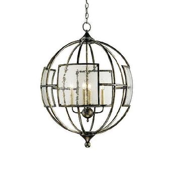 Lighting - Currey & Company 9750 4 Light Broxton Orb Chandelier Large Pendant - Lighting Universe - currey & co, bronxton, orb, chandelier