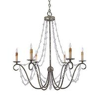 Lighting - Quoizel REL5006IC 6 Light Elise Chandelier, Inca Silver Leaf - Lighting Universe - quoizel, elise, chandelier