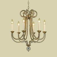Lighting - Candice Olson 6772-6H Candice Olson 6 Light Chandelier, Soft Gold - Lighting Universe - candice olson, 6 light, chandelier