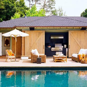 Cabana, Contemporary, pool, Wick Design