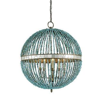 Lighting - Currey & Company 9763 5 Light Alberto Orb Chandelier Large Pendant - Lighting Universe - currey & co., alberta, orb, chandelier