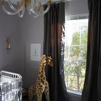 Lilac Gray Paint Colors, Transitional, nursery, Sherwin Williams Ponder, Material Girls