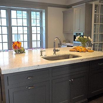 Gray Kitchen Island, Contemporary, kitchen, Cassia Design