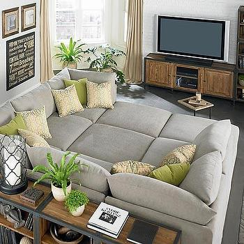 Seating - Custom Upholstered Pit Shaped Sectional - beckham, pit, sectional
