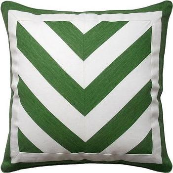 Deluca Chevron Veridian Piped Pillow, Ryan Studio