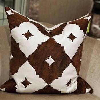 Pillows - Eloise 24x24 Pillow - V Rugs and Home - eloise, chocolate, brown, pillow